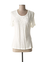 T-shirt manches courtes blanc GERRY WEBER pour femme seconde vue