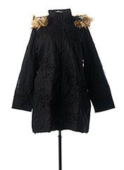 Manteau long noir L33 pour femme seconde vue