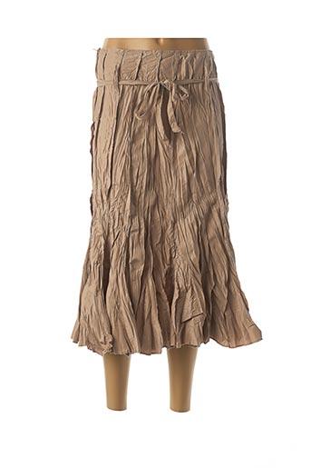 Jupe mi-longue beige FRANSTYLE pour femme
