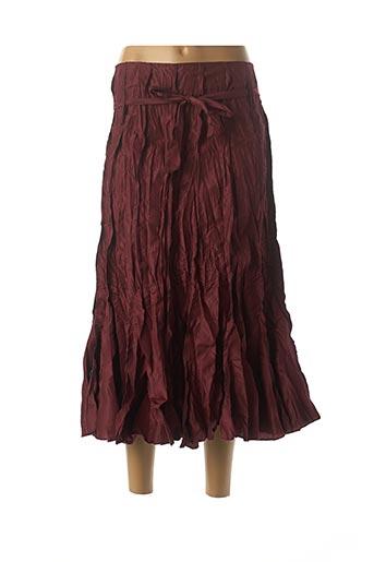 Jupe mi-longue rouge FRANSTYLE pour femme