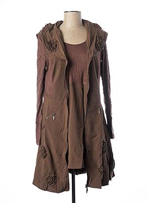 Veste/robe marron GLAMZ pour femme