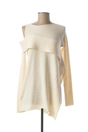 Pull tunique beige CREA CONCEPT pour femme