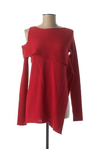 Pull tunique rouge CREA CONCEPT pour femme
