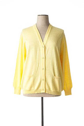 Gilet sans manche jaune EDWIGE pour femme