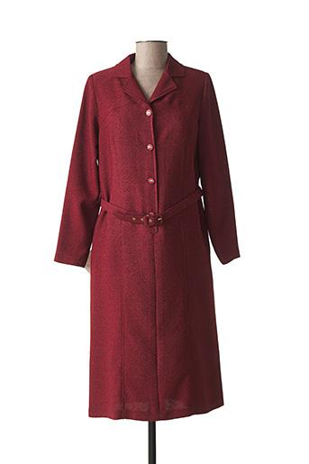 Robe mi-longue rouge COUTUREINE pour femme