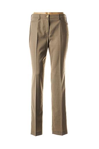 Pantalon chic beige BRUNO SAINT HILAIRE pour femme