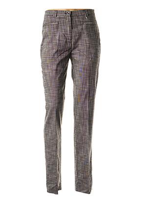 Pantalon chic gris BRUNO SAINT HILAIRE pour femme