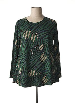 T-shirt manches longues vert BELLA BLUE pour femme