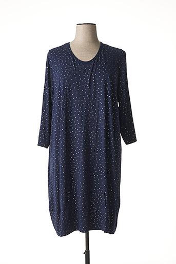 Robe mi-longue bleu CISO pour femme