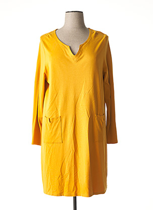 Robe mi-longue jaune MALOKA pour femme