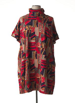 Robe mi-longue rouge BELLA BLUE pour femme