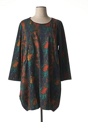 Robe mi-longue vert BELLA BLUE pour femme