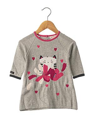 Robe pull gris CATIMINI pour fille