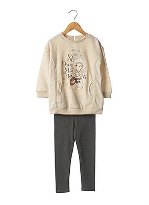 Top/pantalon beige MAYORAL pour fille