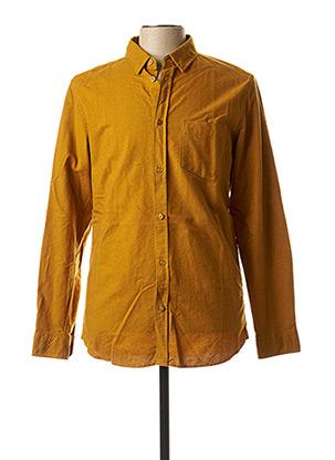 Chemise manches longues jaune TIBET pour homme
