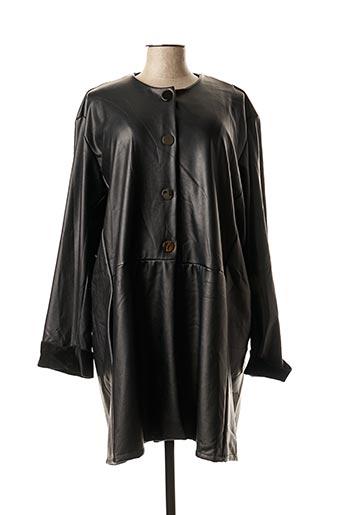 Manteau long noir FRANCK ANNA pour femme