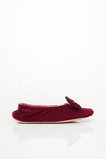 Chaussons/Pantoufles rouge ISOTONER pour femme
