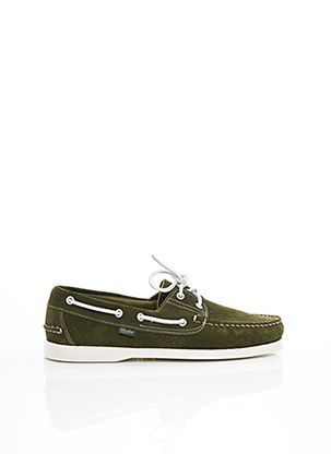 Chaussures bâteau vert PARABOOT pour homme