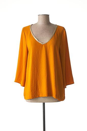 Blouse manches longues orange MORGAN pour femme