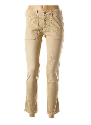 Pantalon 7/8 beige BÔ-M pour femme