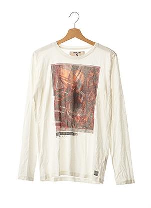 T-shirt manches longues blanc GARCIA pour garçon