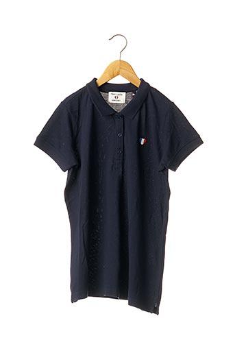 Polo manches courtes bleu TEDDY SMITH pour fille