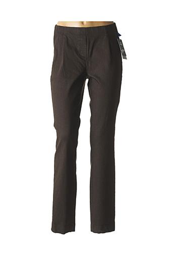 Pantalon casual marron ADELINA BY SCHEITER pour femme