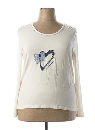 T-shirt manches longues beige FUEGO WOMAN pour femme