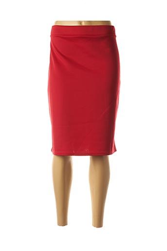 Jupe mi-longue rouge CHIFFON DE PARIS pour femme