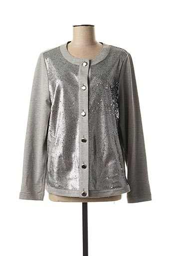 Veste casual gris CHALOU pour femme