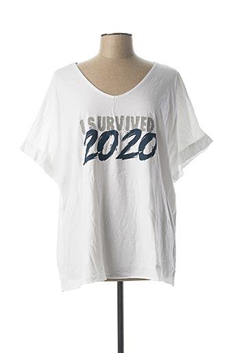 T-shirt manches courtes blanc C'MELODIE pour femme