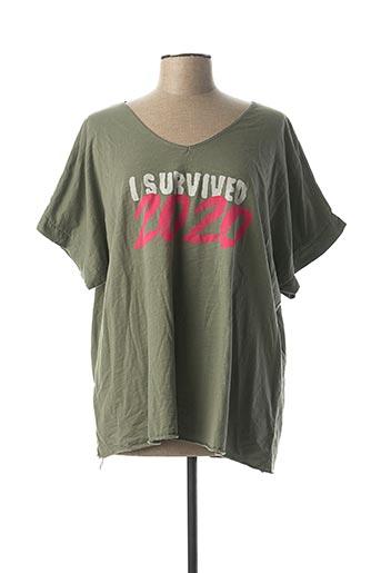 T-shirt manches courtes vert C'MELODIE pour femme