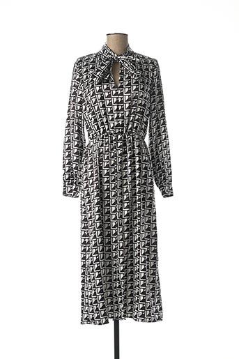 Robe mi-longue noir CLP pour femme