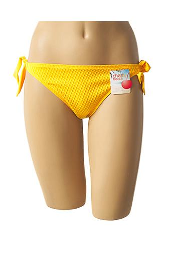 Bas de maillot de bain jaune CHERRY BEACH pour femme
