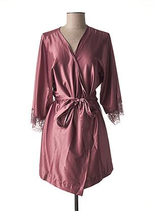 Robe de chambre rose MARIE JO pour femme