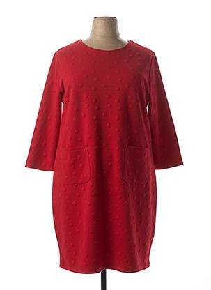 Robe mi-longue rouge CONCEPT K pour femme