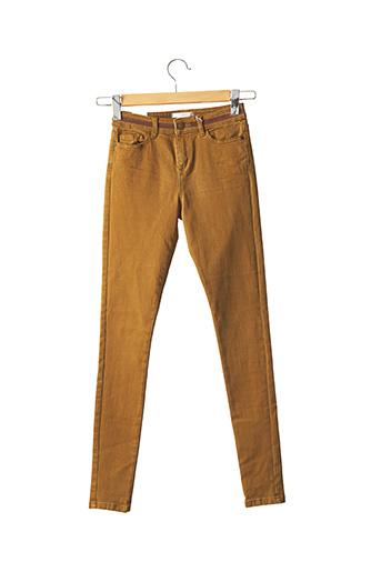 Jeans skinny marron ESPRIT pour femme