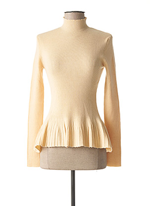 Pull col cheminée beige FRACOMINA pour femme