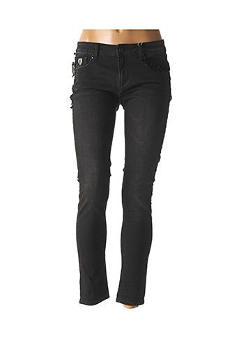 Jeans skinny noir FRACOMINA pour femme