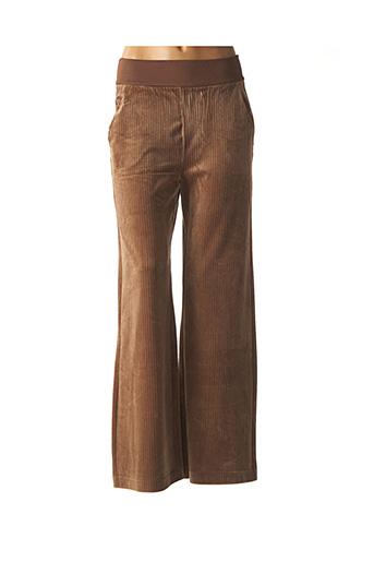 Pantalon casual marron YAYA pour femme
