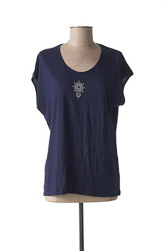 T-shirt manches courtes bleu BEKA pour femme