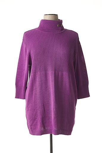 Pull tunique violet ALEXANDRE DUPRES pour femme