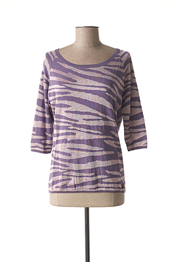 Pull col rond violet O'NEILL pour femme