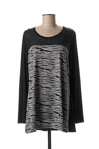 T-shirt manches longues noir TWISTER pour femme
