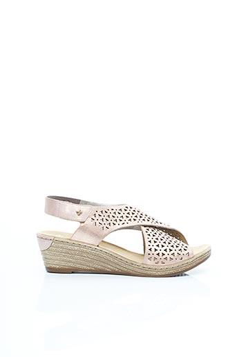 Chaussures de confort rose RIEKER pour femme
