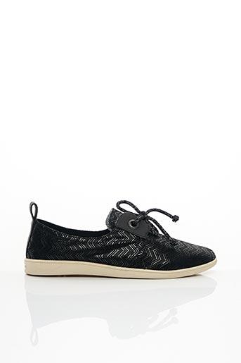 Chaussures bâteau noir ARMISTICE pour femme
