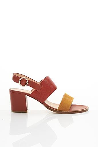 Sandales/Nu pieds orange CRAIE pour femme