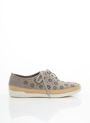Chaussures de confort gris CAPRICE pour femme