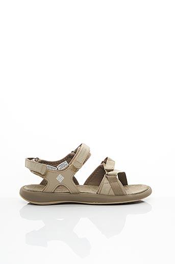 Sandales/Nu pieds beige COLUMBIA pour femme