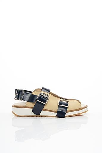 Sandales/Nu pieds beige DEUX SOULIERS pour femme
